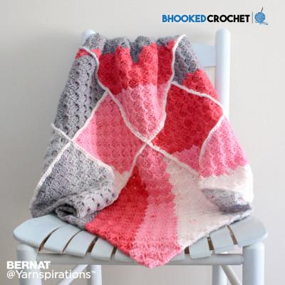 Bernat Geometric Crochet Baby Blanket Free Pattern Crochet Kingdom