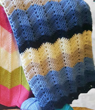 Crochet Chevron Blanket Baby Pattern