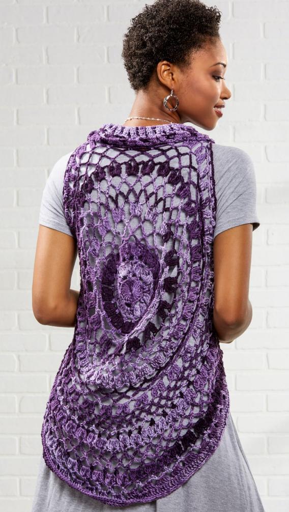 Crochet Mandala Vest Free Pattern