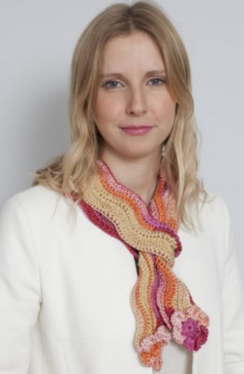 Crochet Ripple Scarf Free Pattern