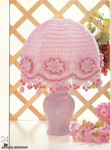 Pink Crochet Lampshade Pattern