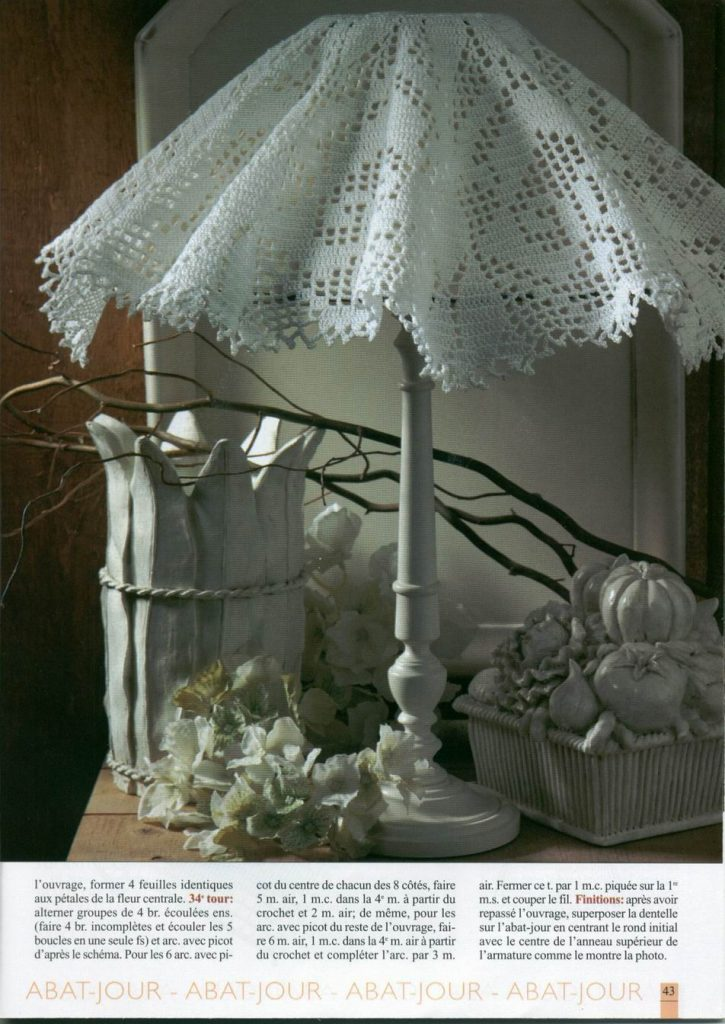 White Crochet Lampshade Pattern