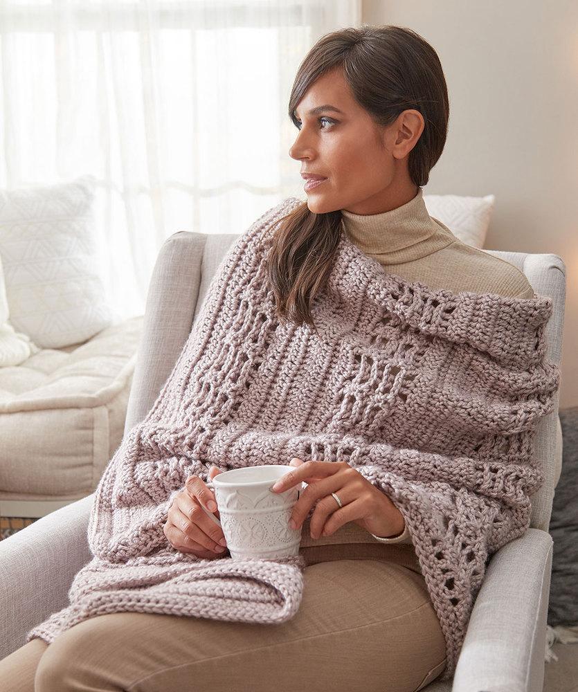 Cozy Hygge Wrap Free Crochet Pattern