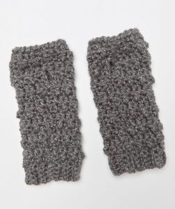 Faux Bobble Wristers Free Crochet Pattern