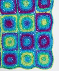 Floral Beauty Throw Free Crochet Pattern