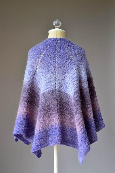 Allium Shawl Free Crochet Pattern