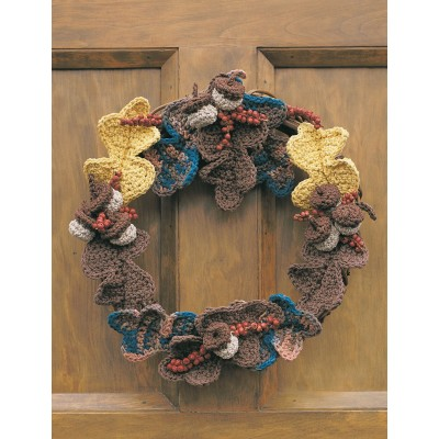 Autumn Harvest Wreath Free Crochet Pattern