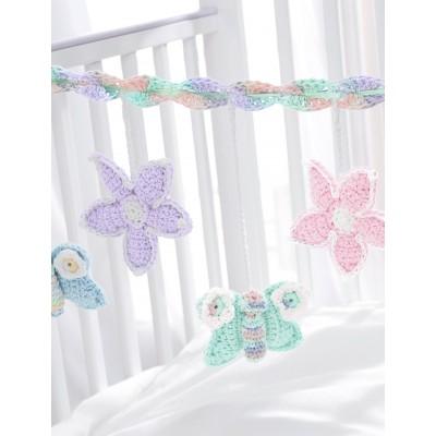 Baby's Crib Mobile Free Crochet Pattern