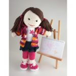 Back to School Lily Doll Free Crochet Pattern