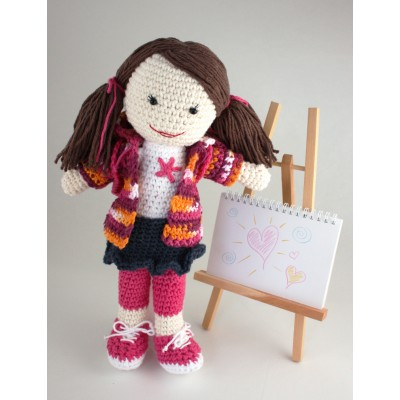 Back to School Lily Doll Free Crochet Pattern