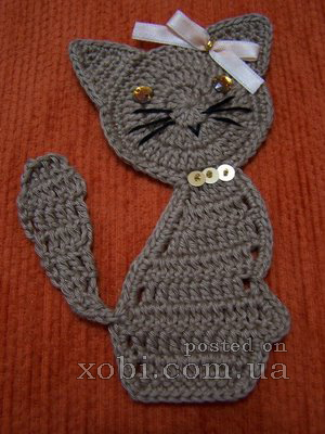 Cat Applique Crochet Pattern