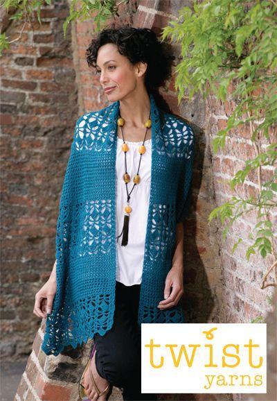 Elegant Stole Free Crochet Pattern