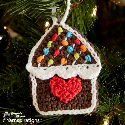 Gingerbread House Crochet Ornaments Free Pattern