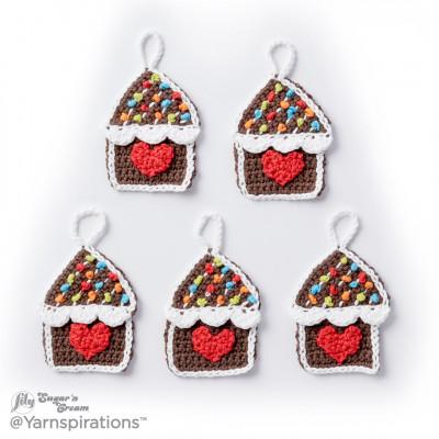 Gingerbread House Crochet Ornaments Free Pattern