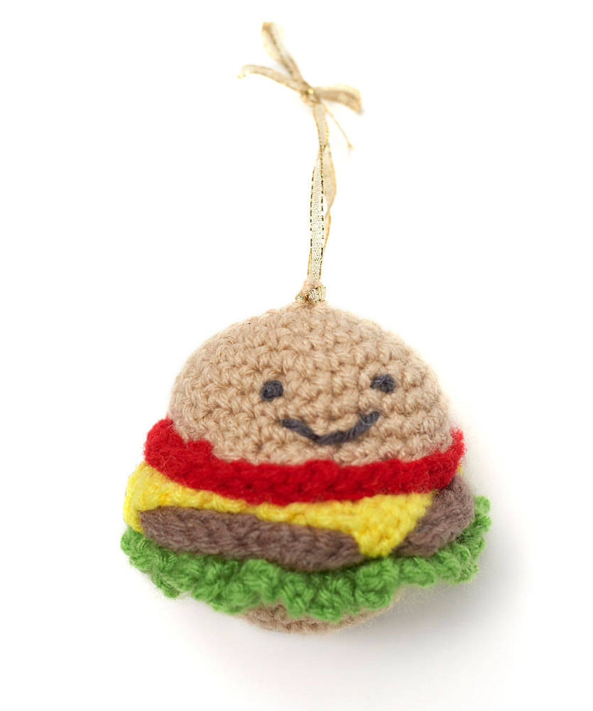 Happy Hamburger Ornament Free Christmas Crochet Pattern ⋆ Crochet ...