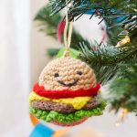 Happy Hamburger Ornament Free Christmas Crochet Pattern