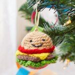 Happy Hamburger Ornament Free Christmas Crochet Pattern