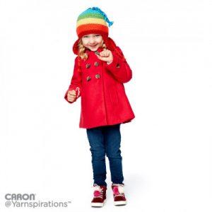 Rainbow Crochet Hat with Earflaps Free Pattern