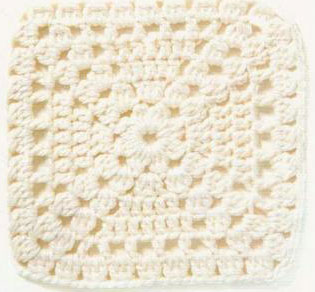 Simple Lace Block Crochet Square Pattern