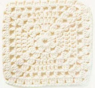 Simple Lace Block Crochet Square Pattern