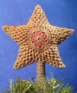 Star Crochet Tree Topper Pattern