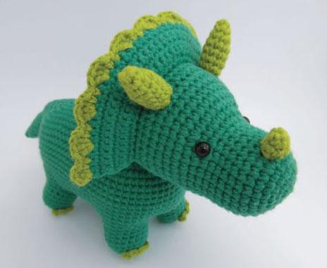 Triceratops Amigurumi Free Dinosaur Crochet Pattern Crochet Kingdom