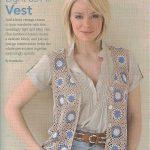 Granny Square Vest Crochet Pattern