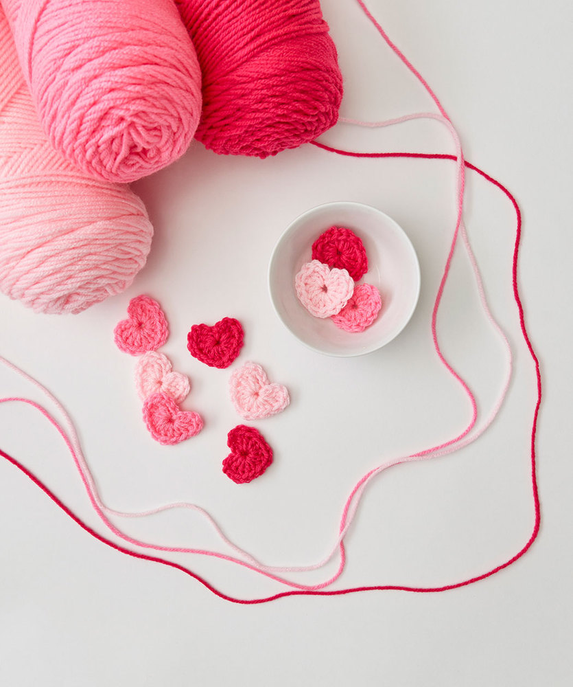 Beginner Sweet Hearts to Crochet Free Pattern