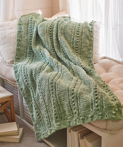Comforting One-Color Throw Free Crochet Pattern