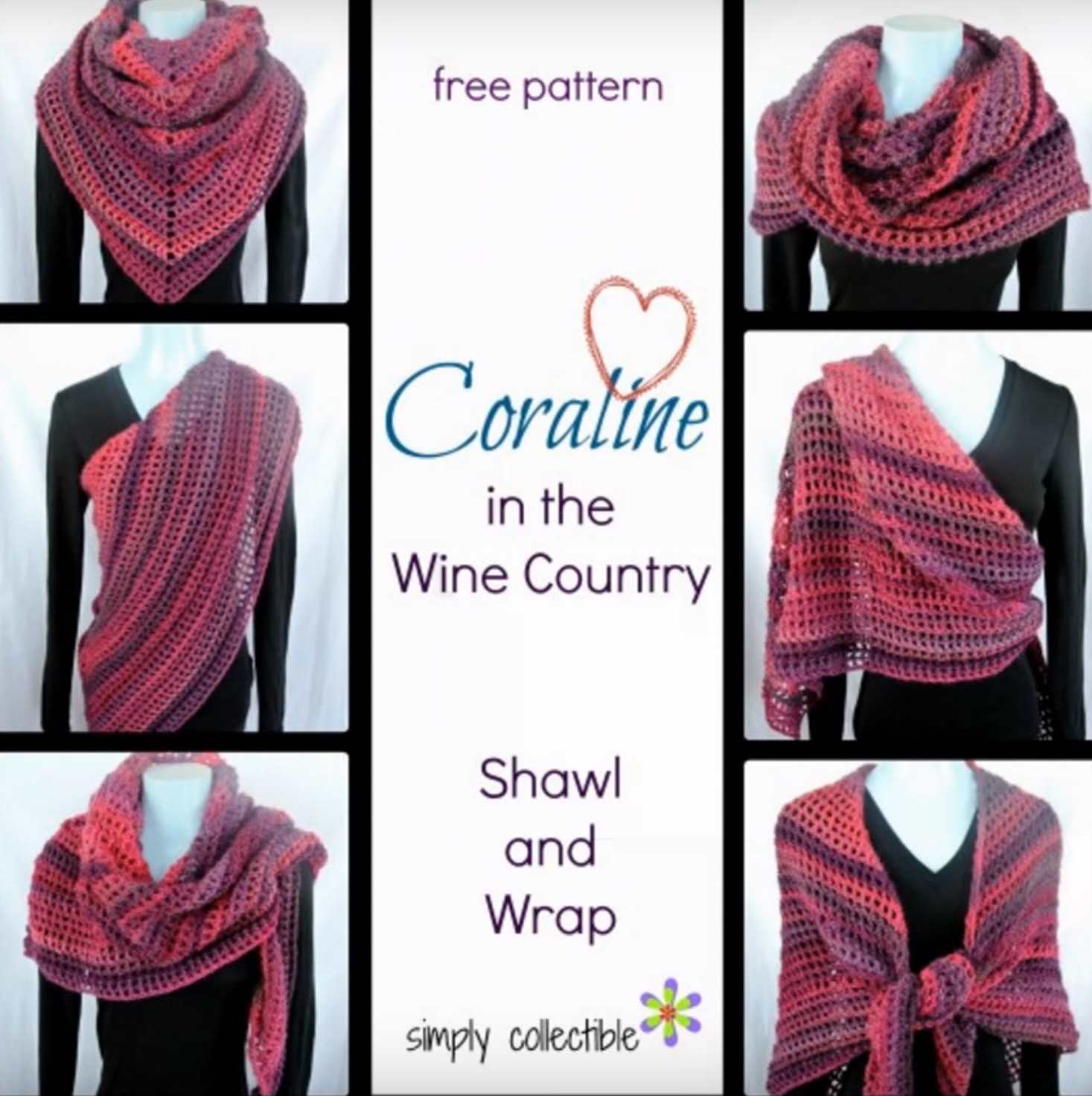 Coraline in the Wine Country Shawl and Wrap Video Tutorial