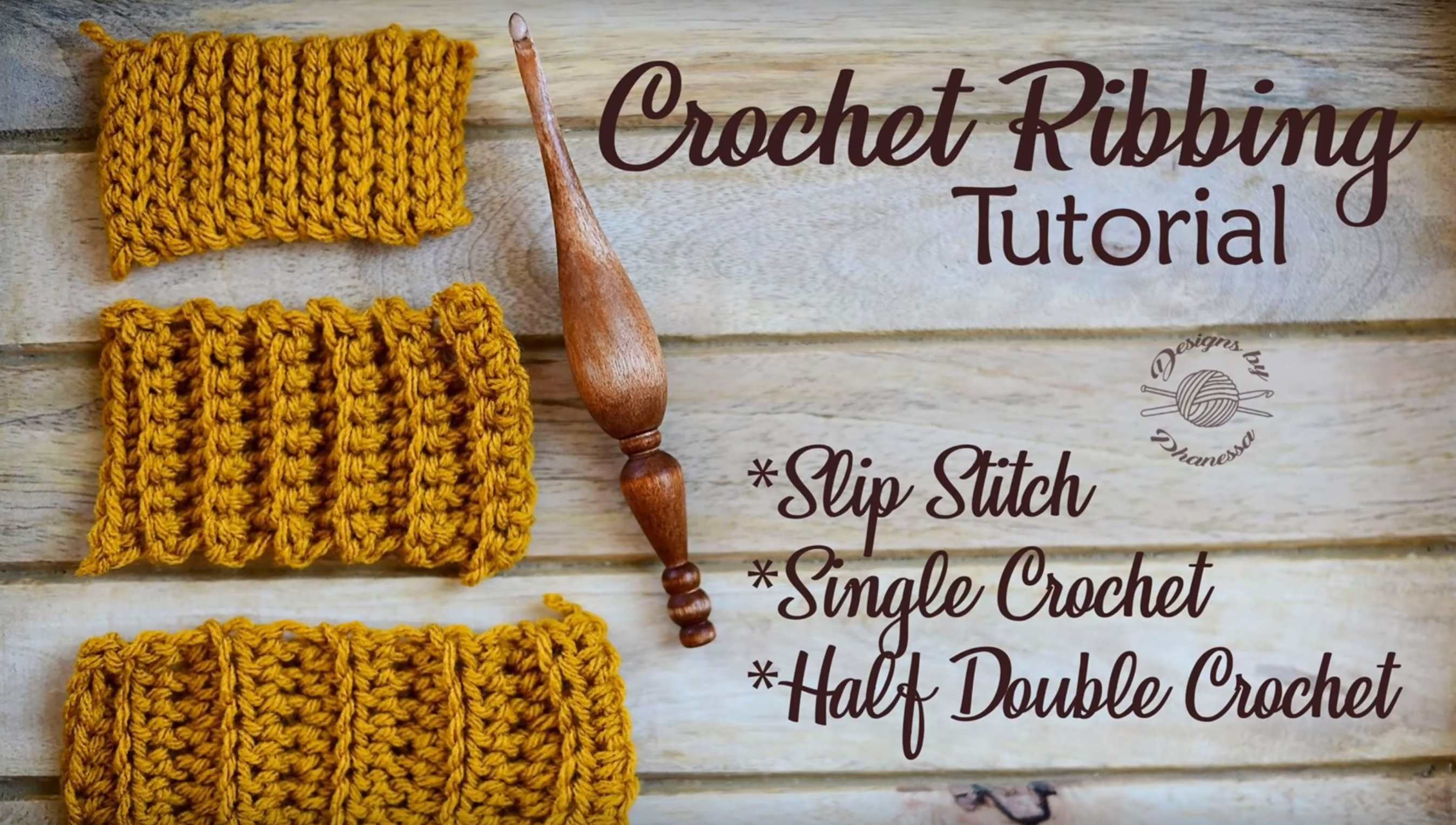 Crochet Ribbing Stitch Video Tutorial