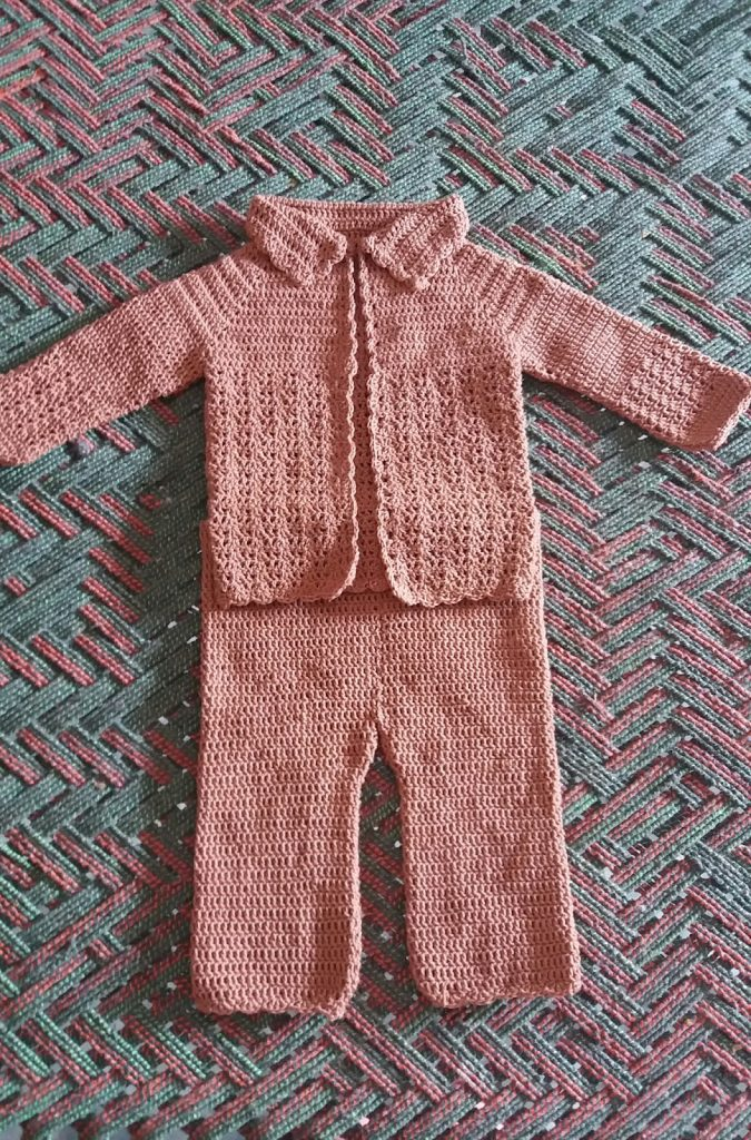 Crochet baby boy dress free pattern