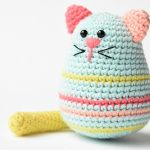 Egg-shaped Cat Free Crochet Softies Amigurumi Pattern