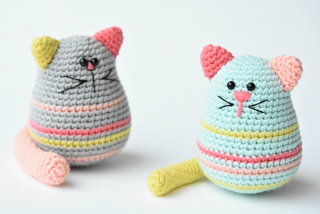 Egg-shaped Cat Free Crochet Softies Amigurumi Pattern ⋆ Crochet Kingdom