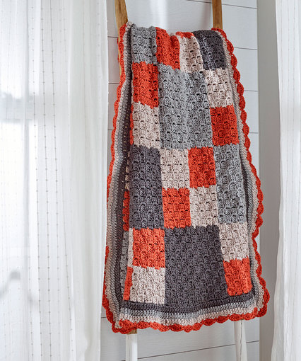 Four-Patch Throw Free Crochet Pattern