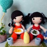 Lilly & Emma Summer-Picnic Free Crochet Doll Pattern