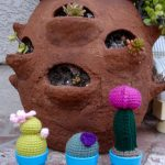 Mini Crocheted Cactus Garden Free Pattern