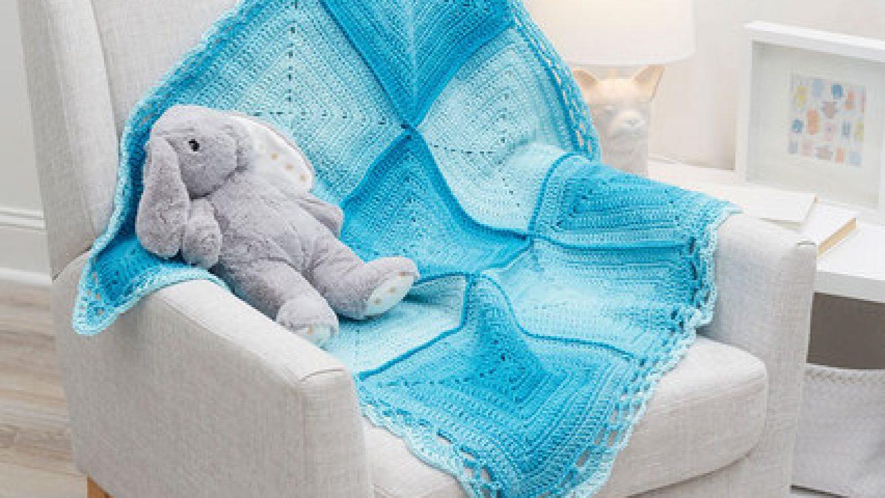 Nine Blocks Baby Blanket Free Crochet Pattern ⋆ Crochet Kingdom