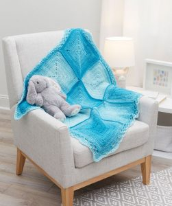 Nine Blocks Baby Blanket Free Crochet Pattern