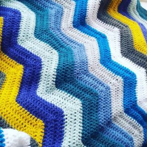 Quick Zig Zag Blanket Free Knitting Pattern