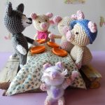 Three Little Pigs and Wolf Amigurumi Crochet Pattern