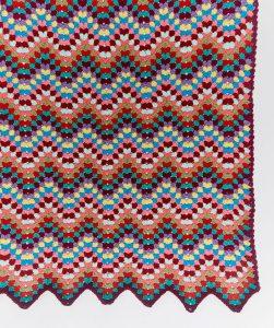 Throw-back Granny Chevron Free Crochet Blanket Pattern