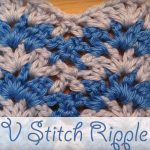 V-Stitch Ripple Free Crochet Video Tutorial