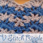 V-Stitch Ripple Free Crochet Video Tutorial