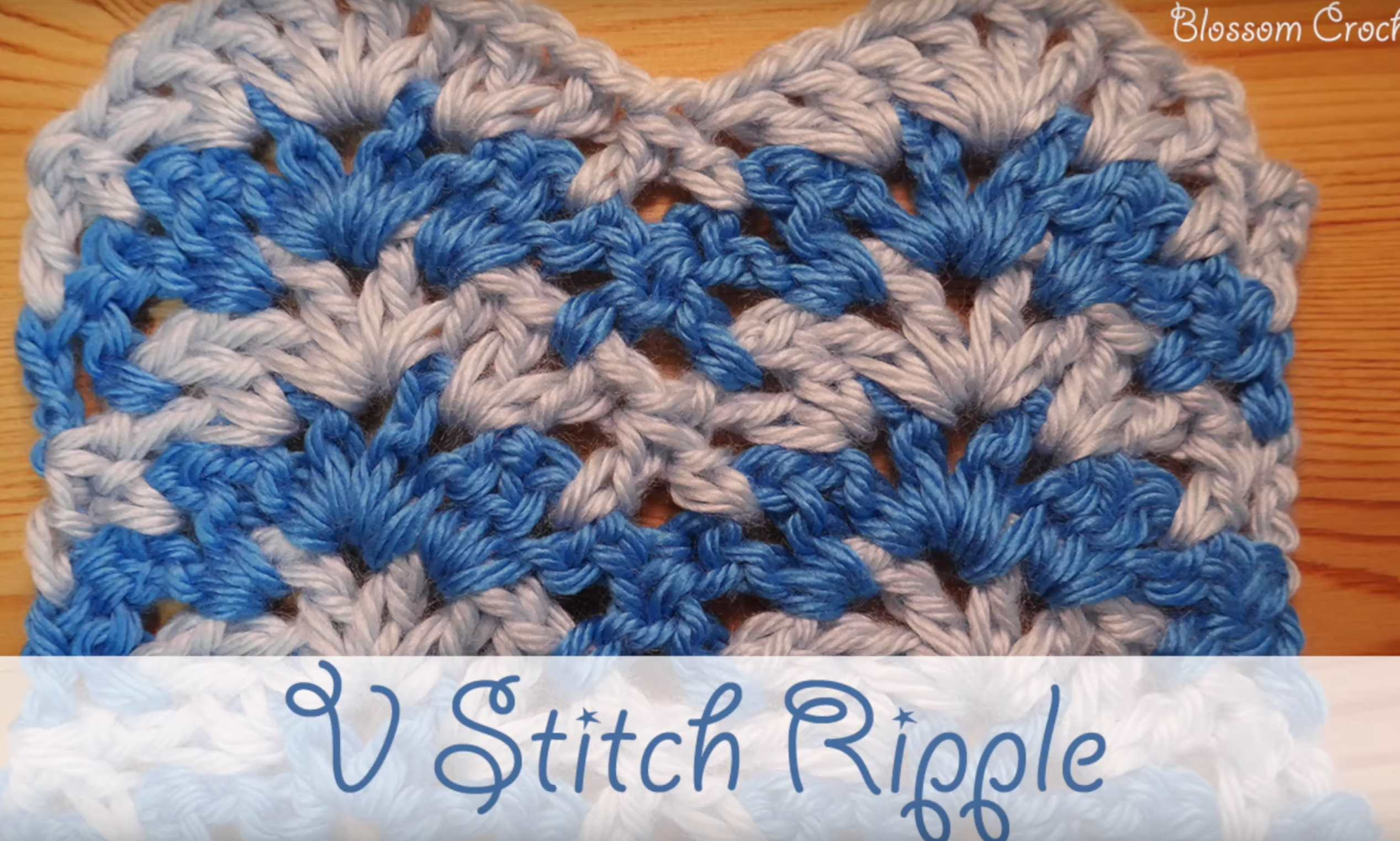 V Stitch Ripple Free Crochet Video Tutorial Crochet Kingdom