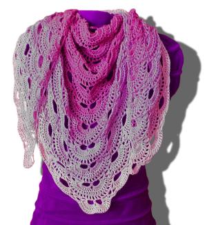 Virus Shawl Free Crochet Pattern. Free crochet shawls download.