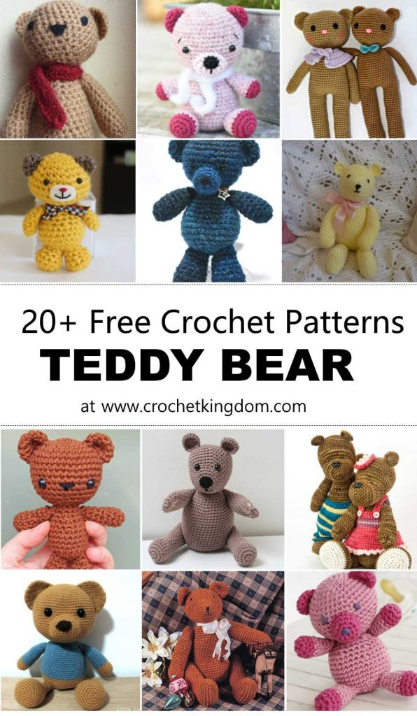 20 Free Crochet Teddy Bear Patterns