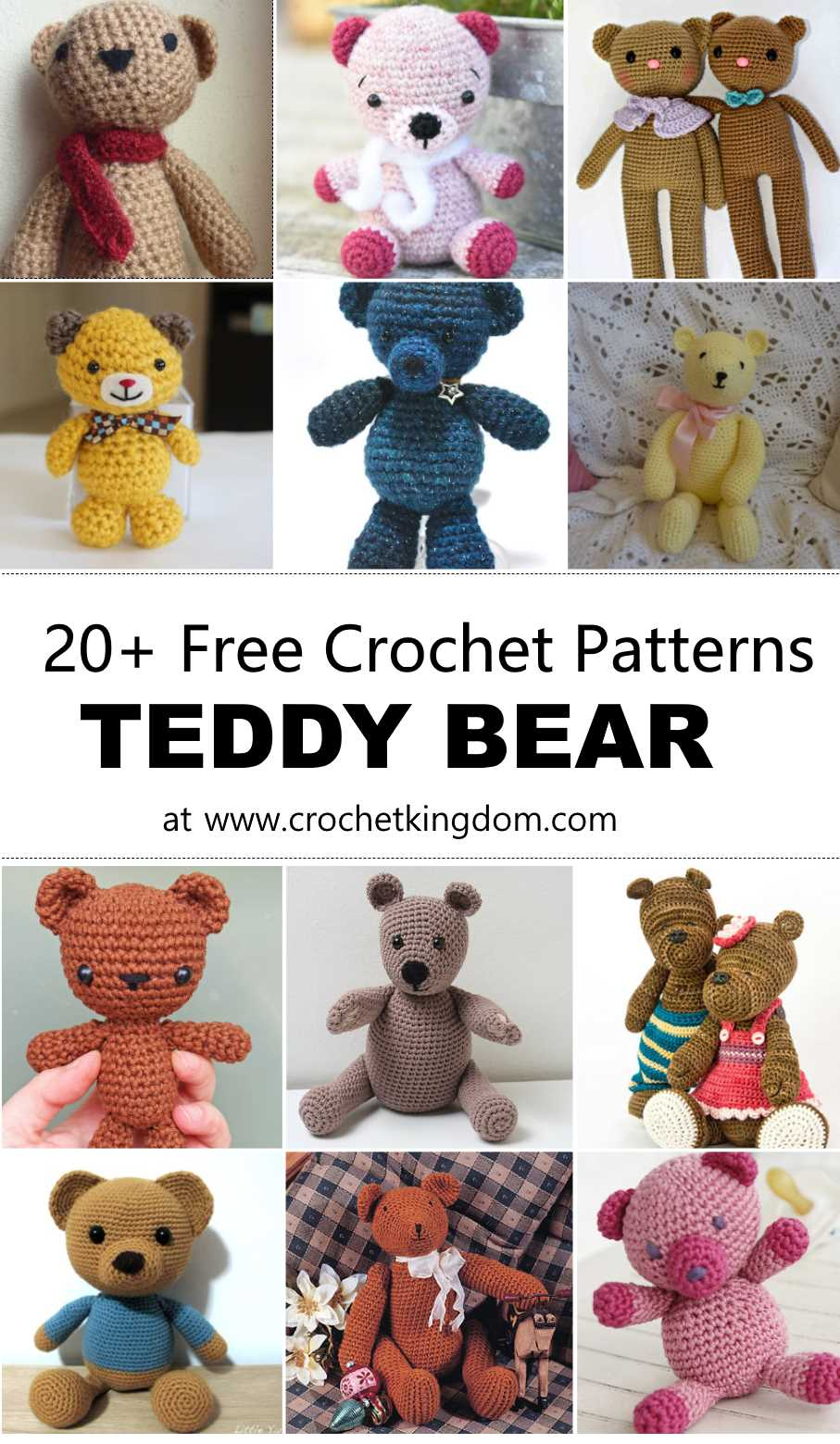 20 Free Crochet Teddy Bear Patterns ⋆ Crochet Kingdom