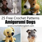 25 Free Amigurumi Dog Crochet Patterns to Download Now. Amigurumi dog patterns, crochet toy dog patterns.