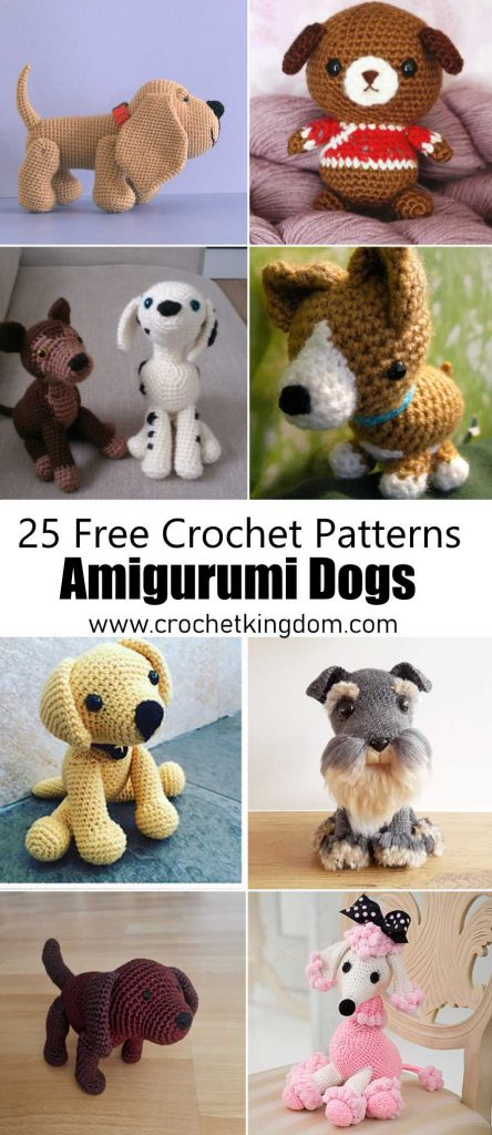 25 Free Amigurumi Dog Crochet Patterns to Download Now!